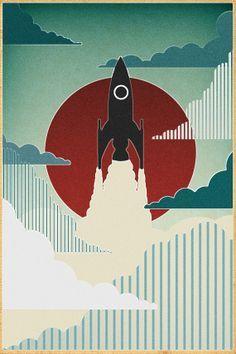 Vintage Rocket Poster Google Search Vintage Rockets Poster Art Space Art