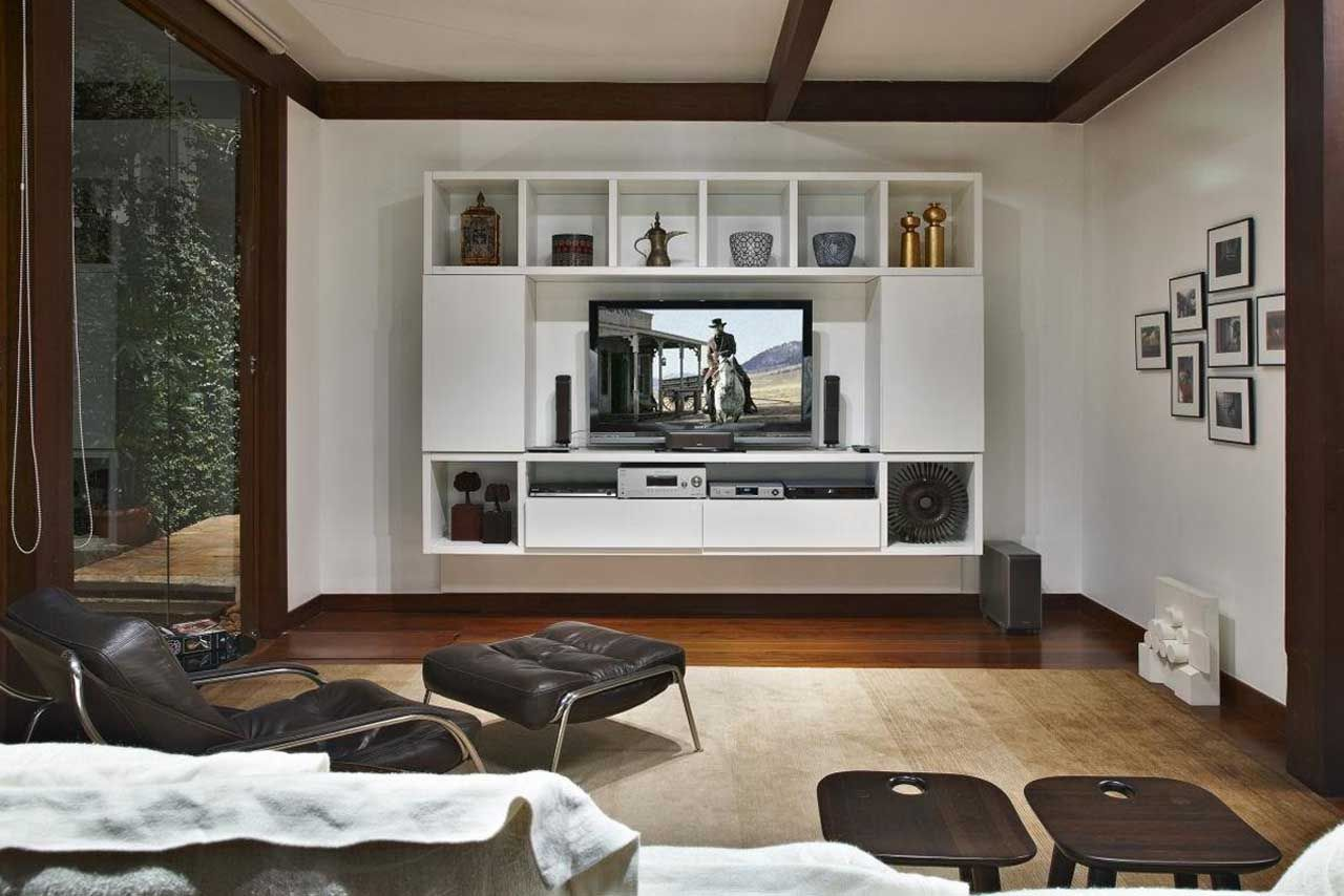 Effigy of Flat Screen TV Wall Cabinets Offering SpaceSaving