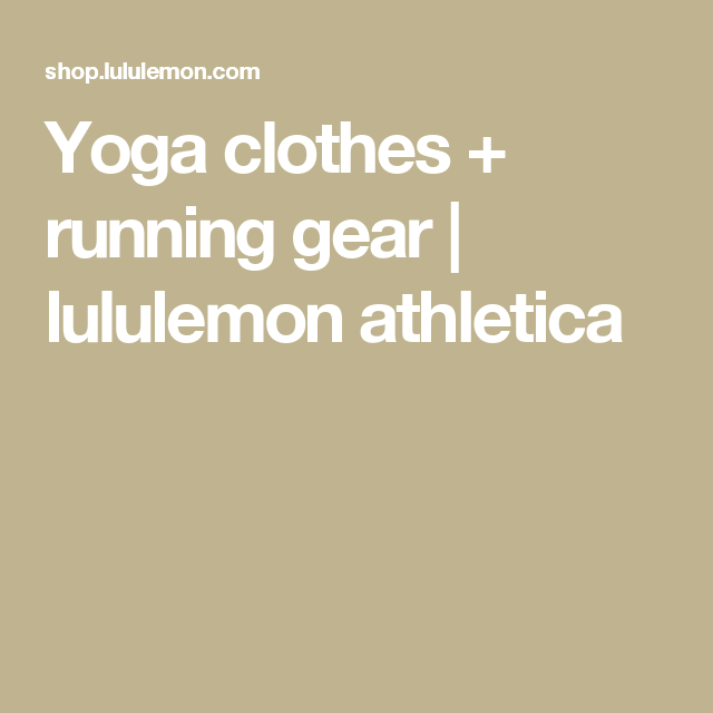 Yoga clothes + running gear | lululemon athletica GIFT CARD