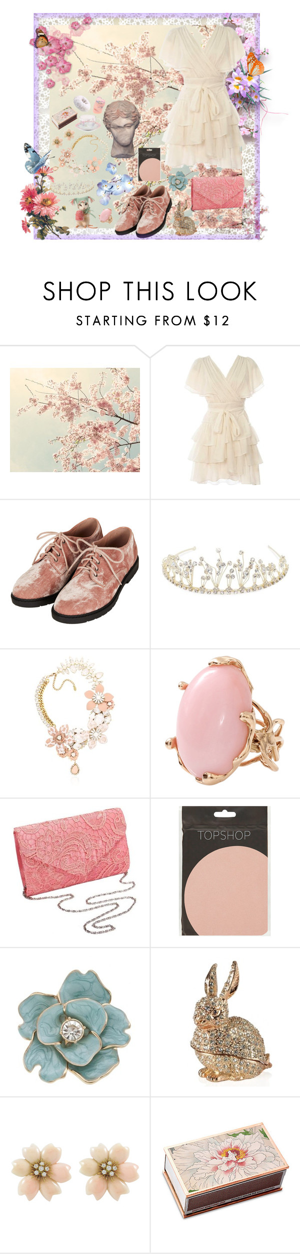 """Pixie Dust"" by scarlet-locks ❤ liked on Polyvore featuring WALL, Topshop, Jon Richard, Halo & Co., Lucifer Vir Honestus and Shandell's"