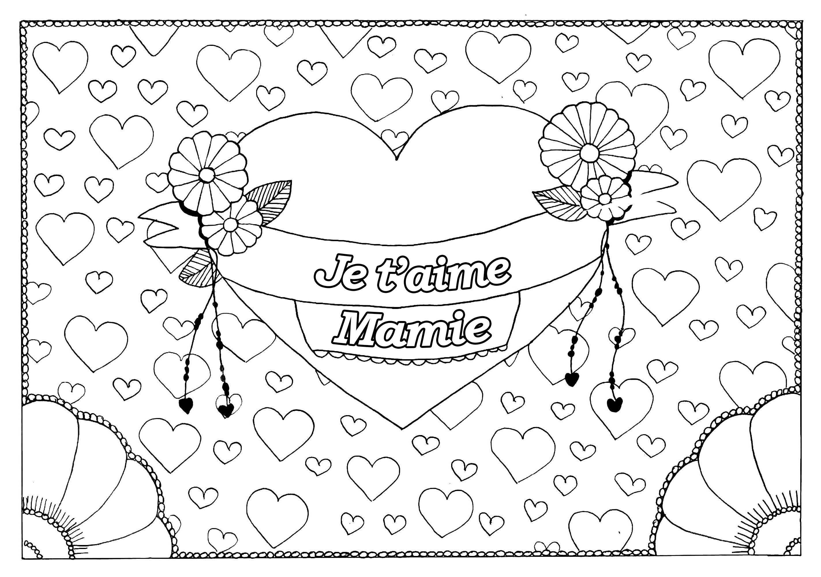 Coloriage Coeur Amour Gratuit.Coloriage Je Taime A Imprimer Coloriages A Imprimer Gratuits