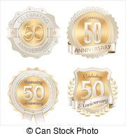 aniversario, insignias,  50th