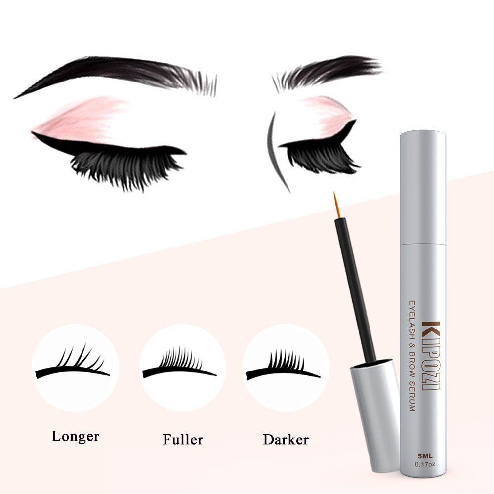 29a8a93fb8a KIPOZI Eyelash Growth serum Lash Enhancer Serum Eyelash and Brow  Extensions Achieve Lashes Longer Fuller and