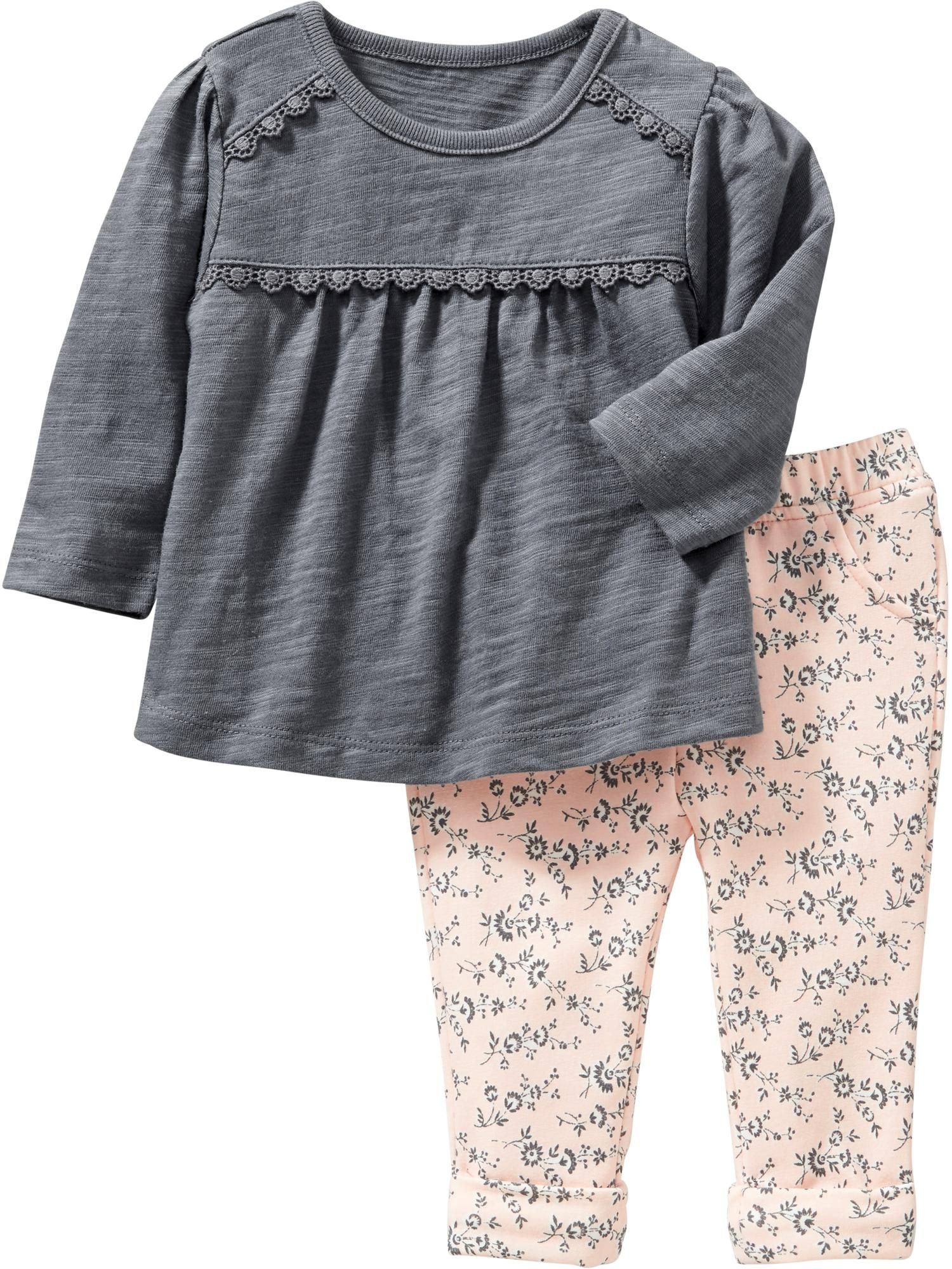 Morgan Old Navy Lace Tee and Leggings Set for Baby