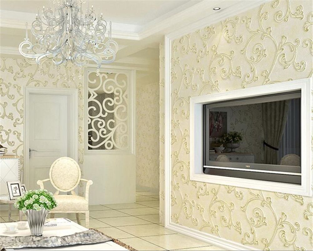 Beibehang behang Modern simple bedroom wallpaper luxurious living ...
