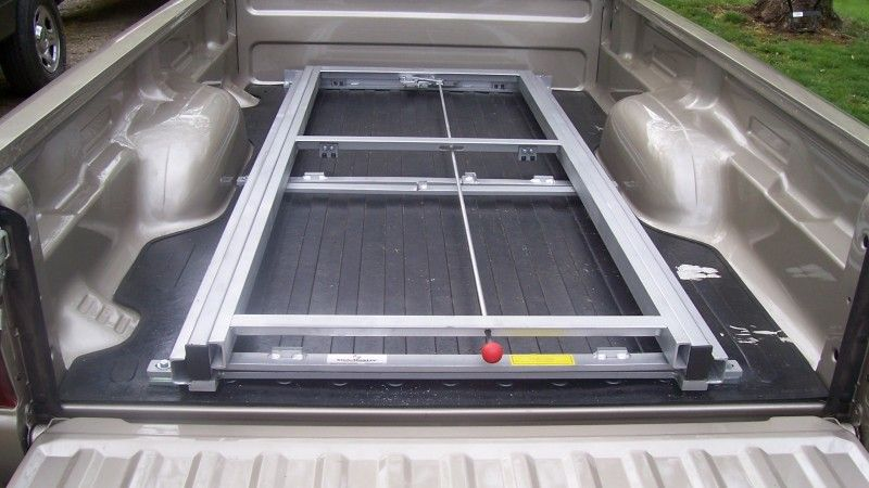 Pickup Cargo Slide Truck bed, Custom truck beds, Truck
