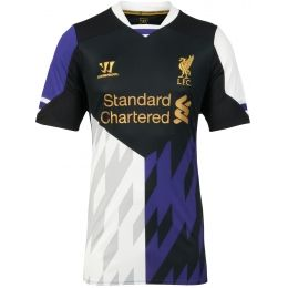 buy popular 610a1 b0ccf 13-14 Liverpool Away Black Soccer Jersey Shirt | 13-14 Club ...