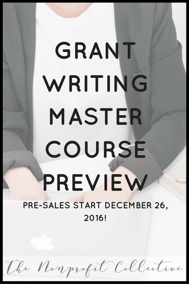 Grant Writing Master Class | Grant writing