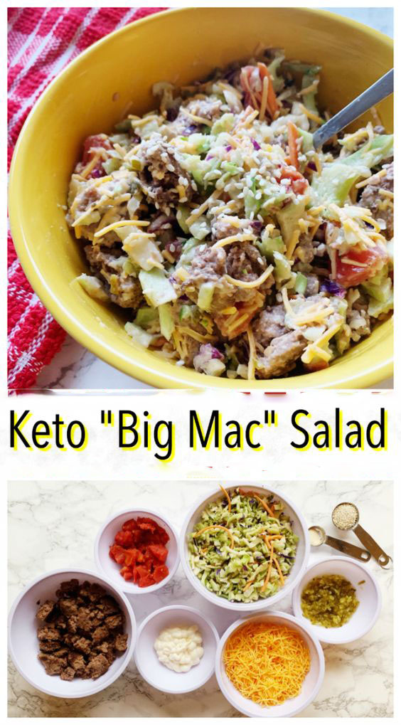 BIG MAC SALAD – KETO AND LOW CARB