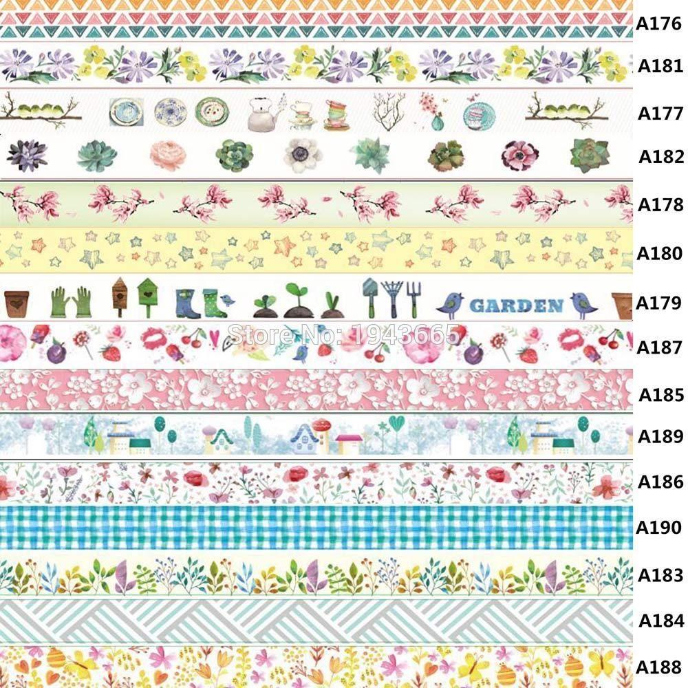 Estilo Mixto PRETYZOOM Cinta Decorativa Diy Washi Cinta Decorativa de Papel /Única para Manualidades de Scrapbooking Diy Y Envoltura de Regalos 6 Rollos