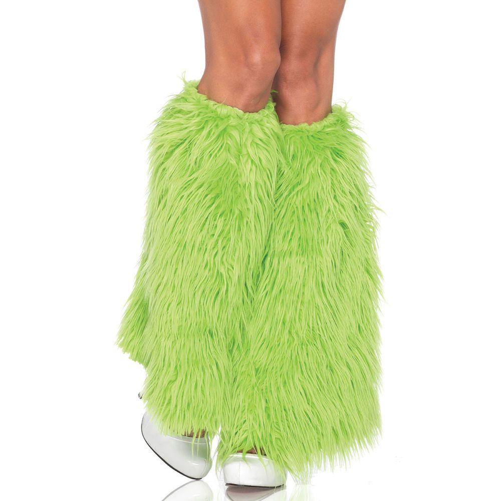 Neon Green FurryFuzzy Leg Warmers Leg Avenue LegAvenue  Bad