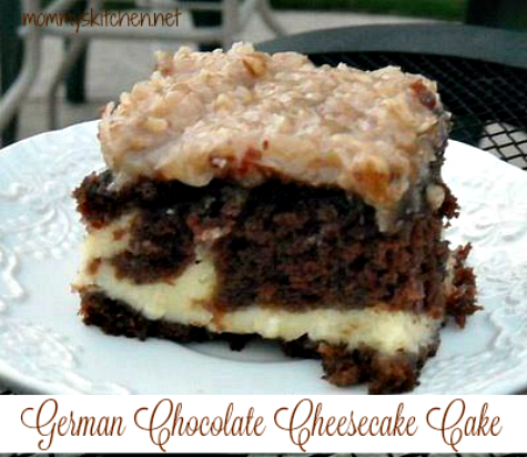 German Chocolate Cheesecake Cake