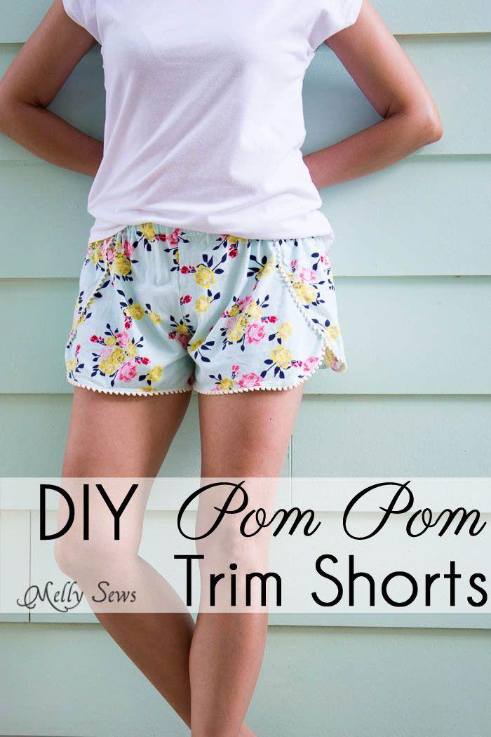 Sew Pom Pom Shorts with Free Pattern | Kleider nähen, Nähprojekte ...