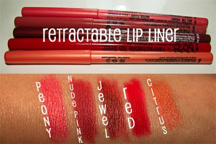 Check out my review of the NYX Retractable Lip Liners ...