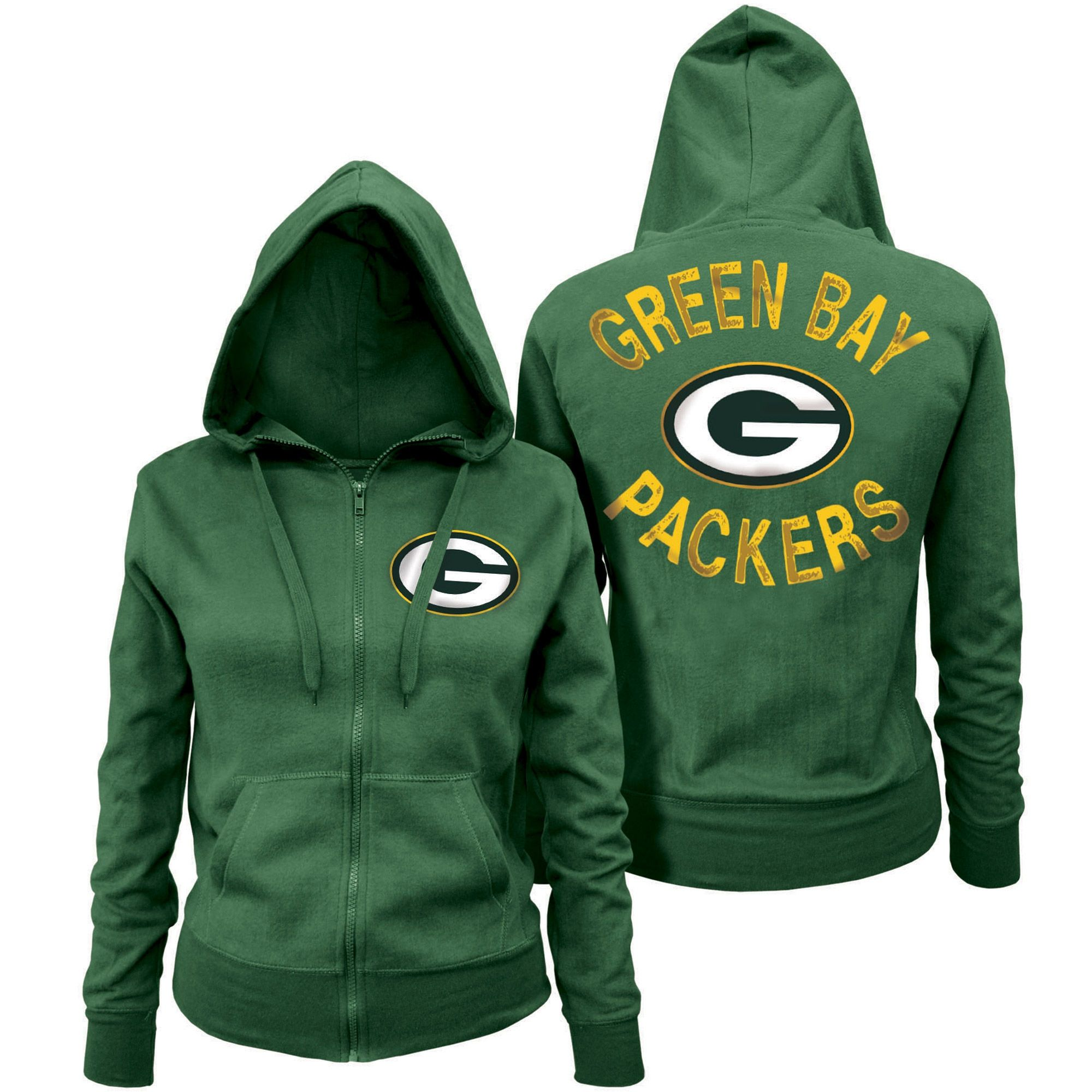 5th And Ocean By New Era Green Bay Packers Women S Green Zone Blitz Full Zip Hoodie Green Bay Packers Sweatshirt Green Bay Packers Packers Womens