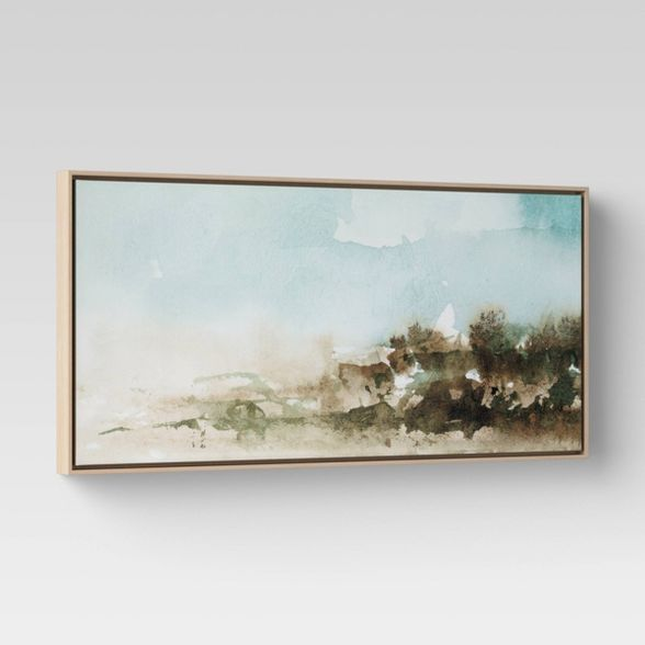 47 X 24 Watercolor Landscape Framed Canvas Project 62 Canvas Frame Watercolor Landscape Framed Wall Canvas