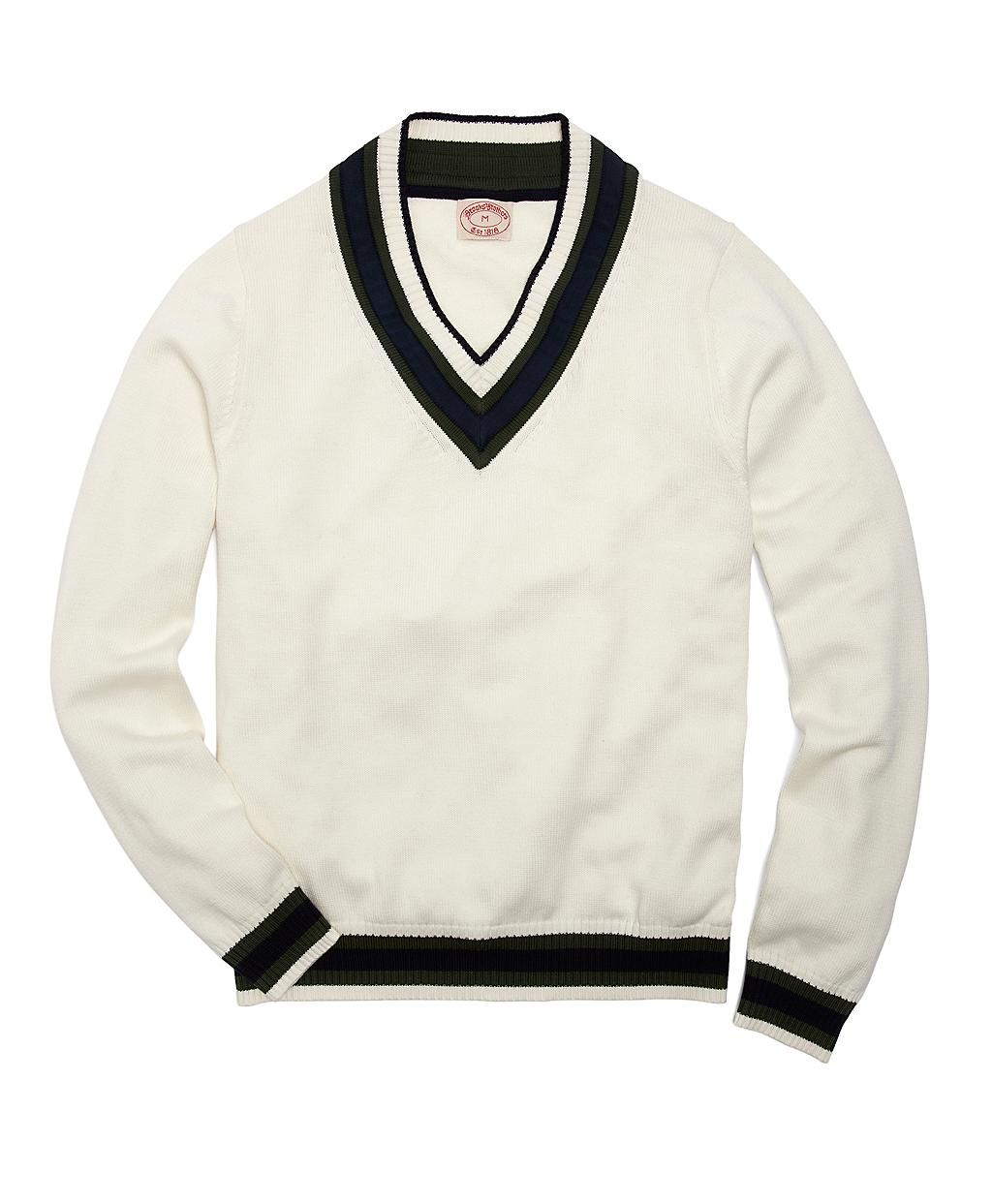 Fall - Cotton and Wool Cricket Sweater | Brooks Brothers | Style ...