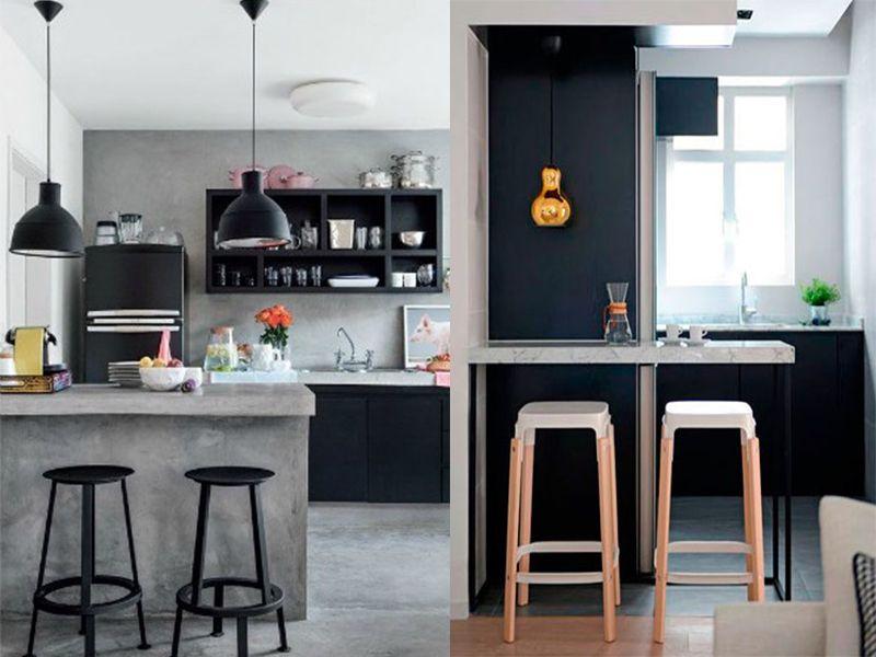 Barras de cocina para cualquier estilo casa en 2019 for Cocinas modernas para apartamentos pequenos