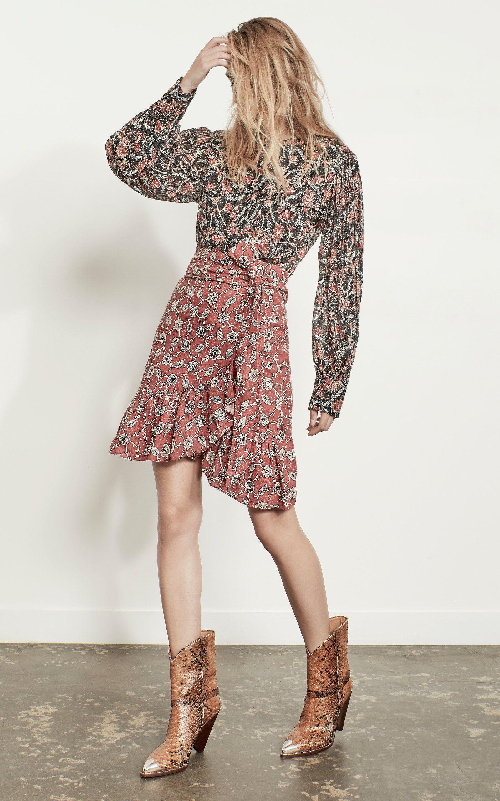 8d0e71a6c3c Tempster Printed Linen Skirt by ISABEL MARANT ÉTOILE for Preorder on Moda  Operandi