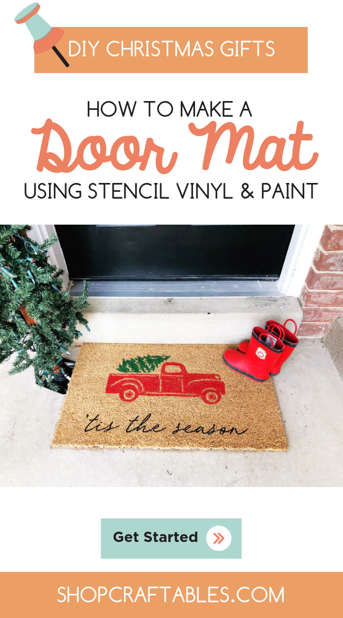 Holiday Diy How To Make A Doormat Using Stencil Vinyl And Paint