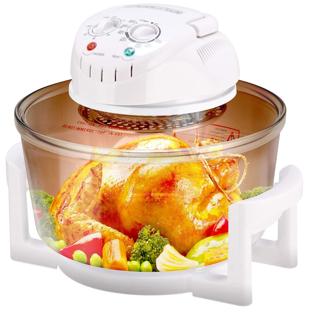 Infrared Halogen Convection Oven With Stainless Steel Extender Ring Oven Cooker Kitchen Countertops Convection Oven Cooking