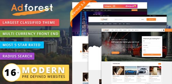 Download ThemeForest AdForest v3.0.2 Classified Ads WordPress Theme ...