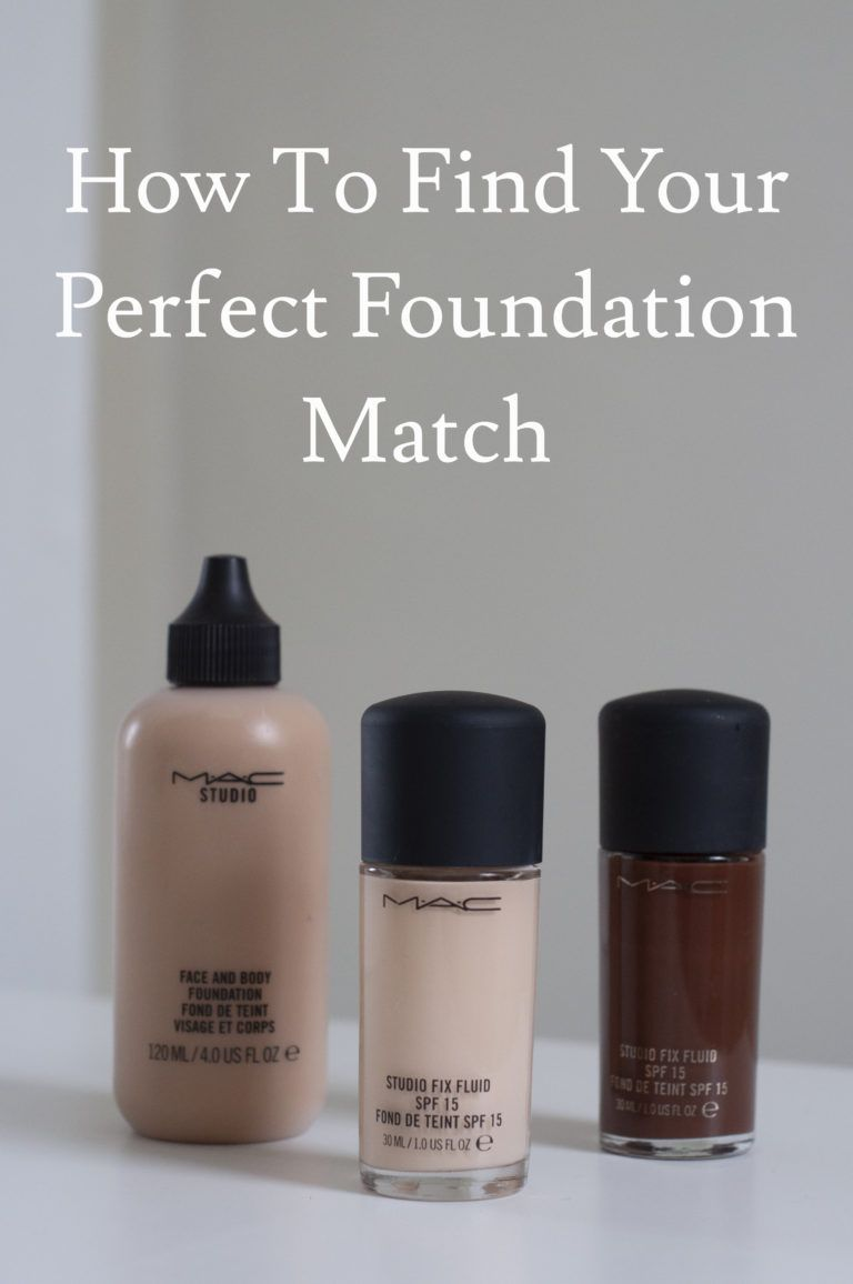 How to find your perfect foundation match how to match