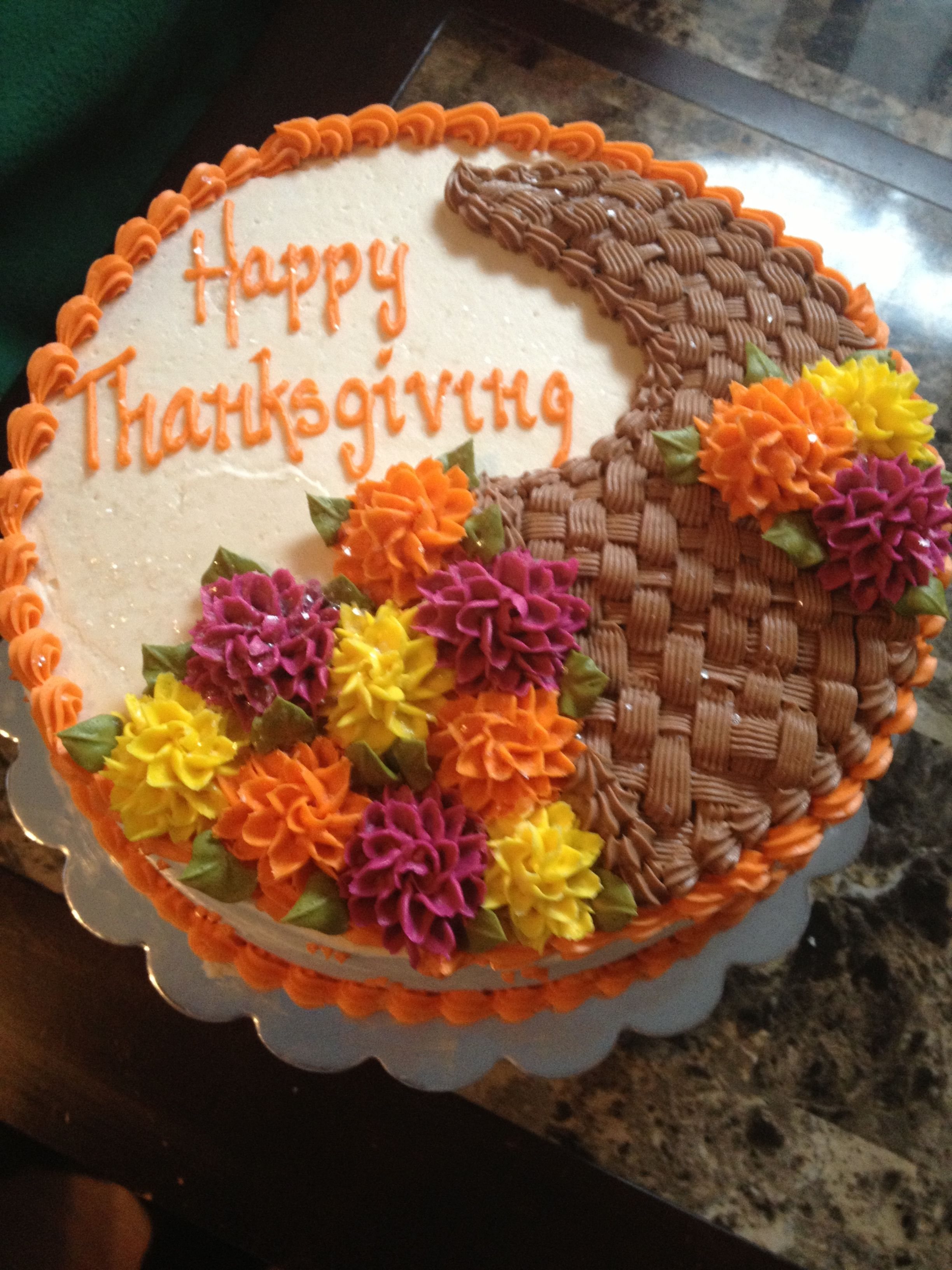 Thanksgiving Day Cake With Images Thanksgiving Cakes