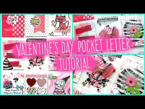 Valentines Day Pocket Letter Tutorial  Tombow usa Bees and