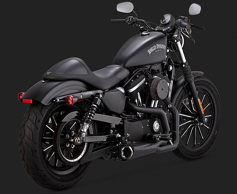 SPORTSTER HARLEY BLACK EXHAUSTS 2 NTO 1, 2014 TO 2018