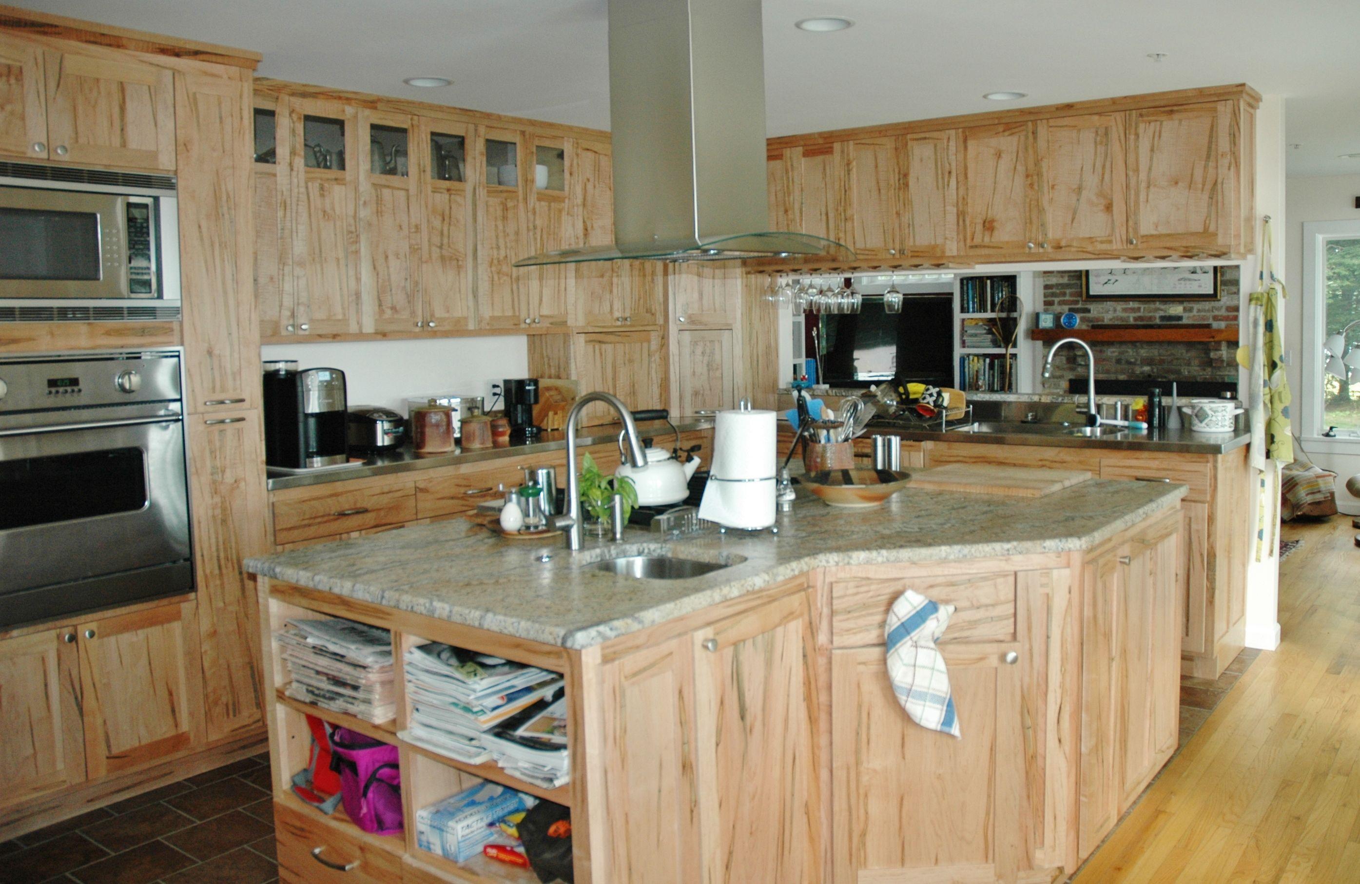 Custom Cabinets with Striking Grain in No. Bath, Maine ...