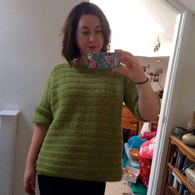 Time for the second of my 'selfish crochet' projects this year! For ages I've wanted to make something to wear and I loved the look of the Rebekka Jumper by Ruby McGrath (of Frank&Olive Crochet...