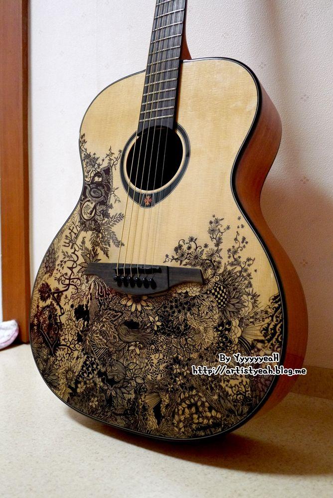 Guitar Designs Art : Guitar customizing by yyyyyyyyeah viantart on