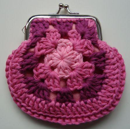 Tutorial* Granny square portemonneetje maken | Pinterest