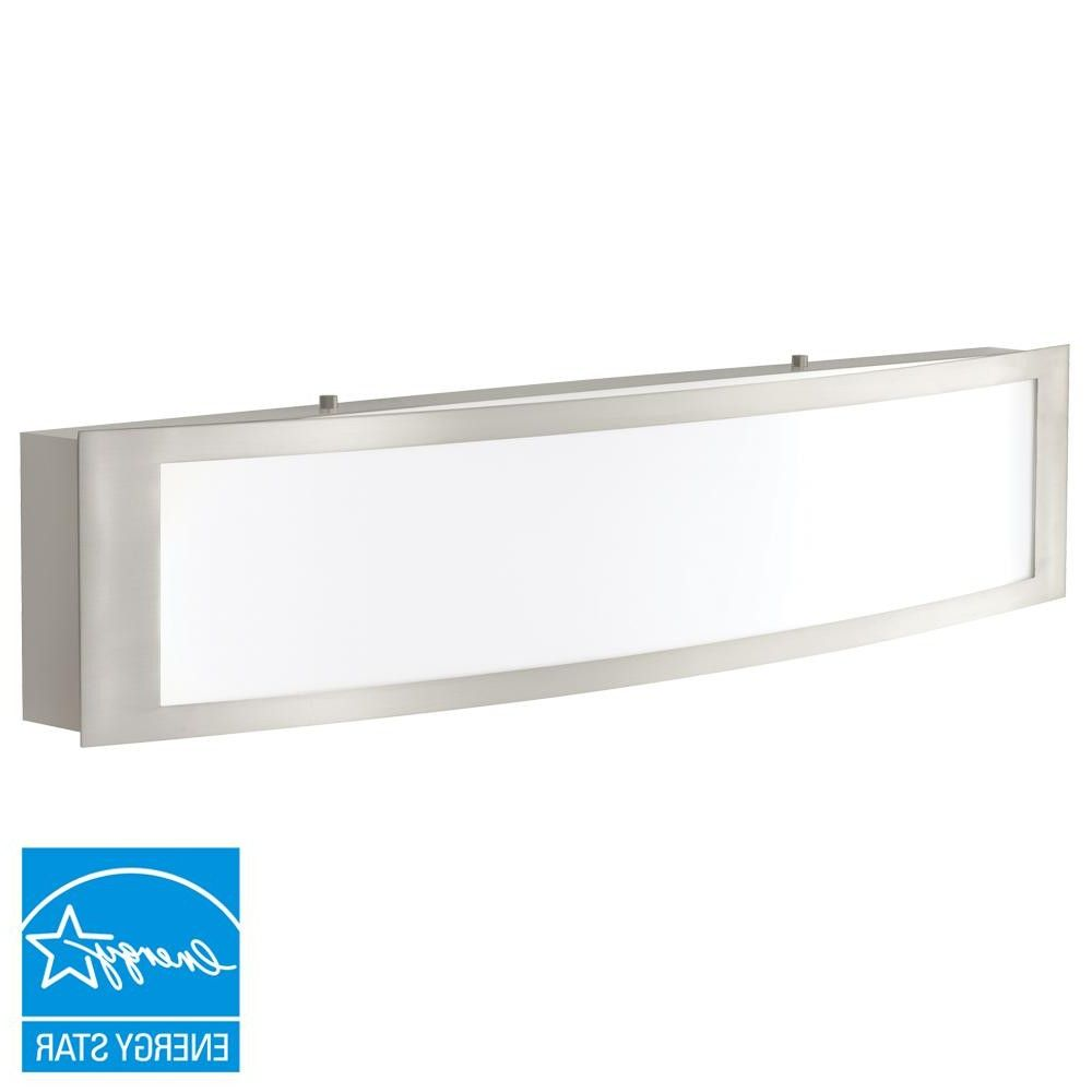 integrated led vanity lighting bathroom lighting the home depot from ...