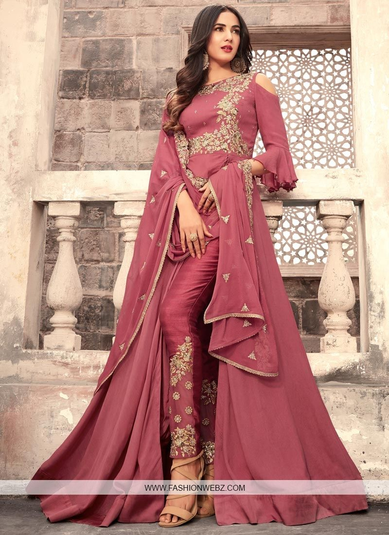 Add #grace and #charm for your look in this #hotpink #silk ...