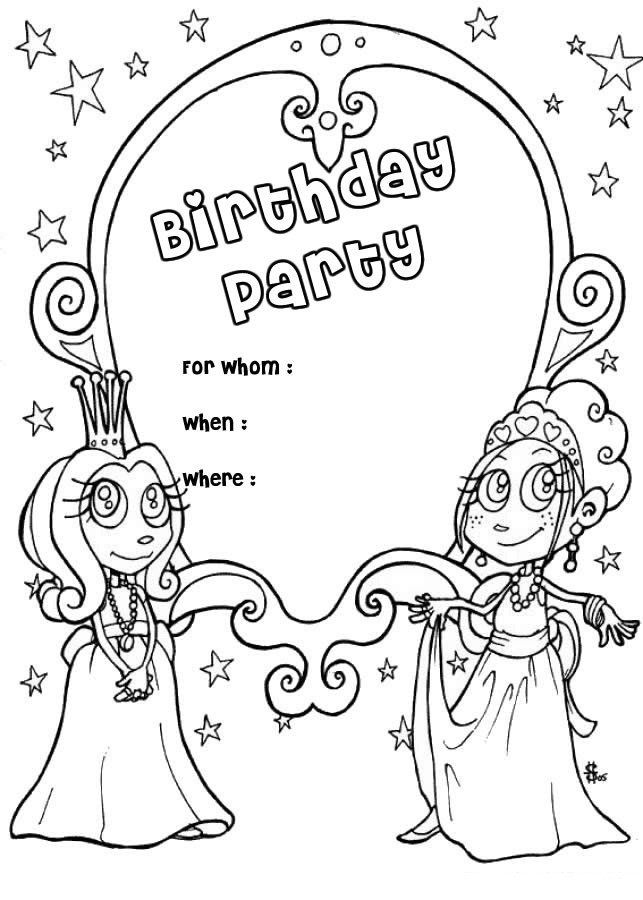 Free Printable Happy Birthday Coloring Pages Free
