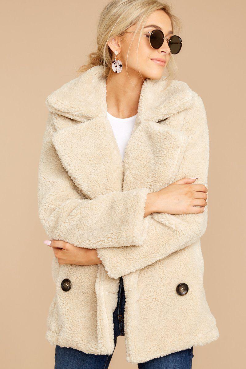 Chic Beige Faux Fur Coat Double Breasted Coat Jacket 120 00 Red Dress Boutique Red Dress Women Faux Fur Outerwear Fur Outerwear [ 1200 x 800 Pixel ]