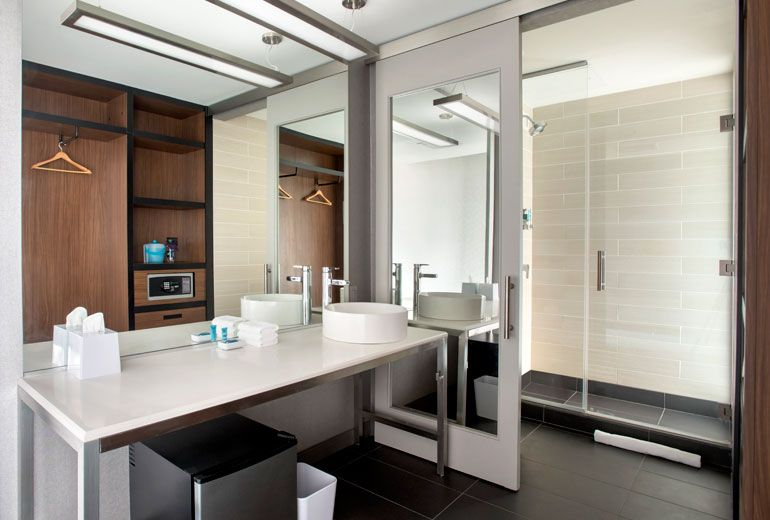 Aloft Guest Bathroom-Aloft Buffalo Airport