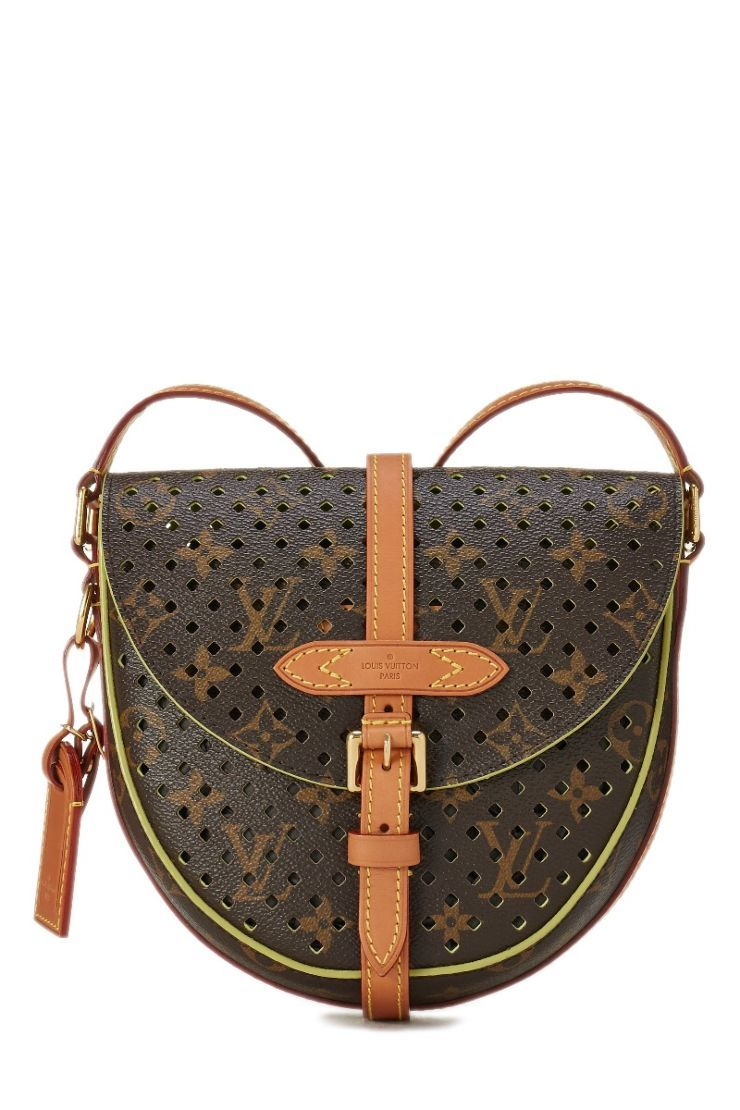 25f10e397e1 Louis Vuitton Yellow Monogram Perforated Chantilly PM - What Goes Around  Comes Around Louis Vuitton,