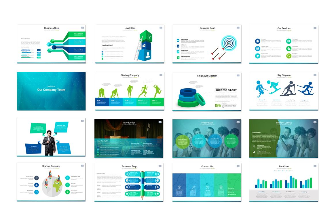 Techno Powerpoint Template by Flyer King on Creative Market 3/3 ...