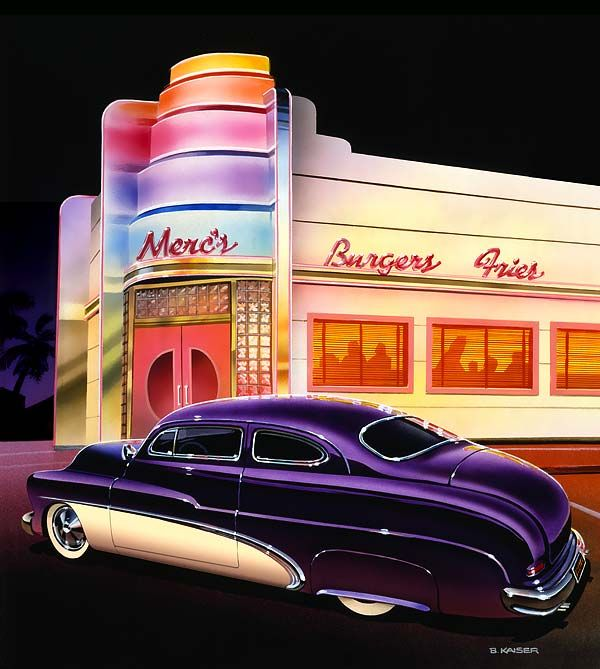 Paintings Of 1950s Cars And Trucks