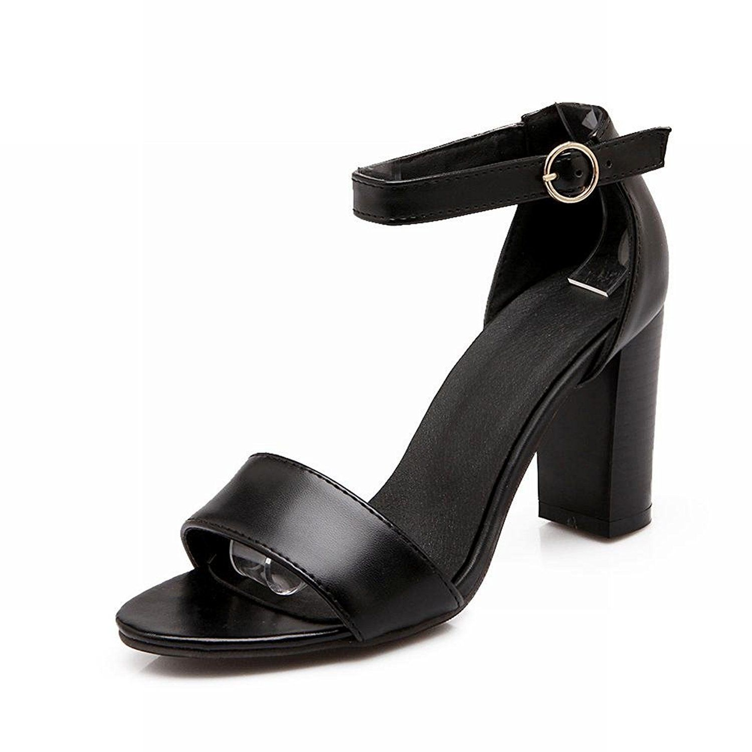 Carol Shoes Women's Fashion Elegance Ankle-strap Grace Chunky High Heel Sandals *** Details can be found by clicking on the image.