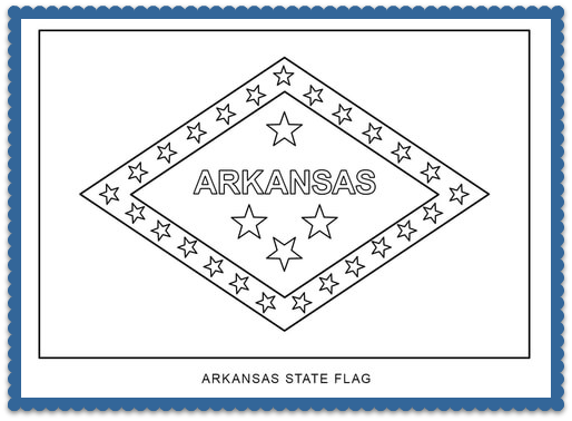 State Flag Coloring Pages By Pinterest Usa Facts