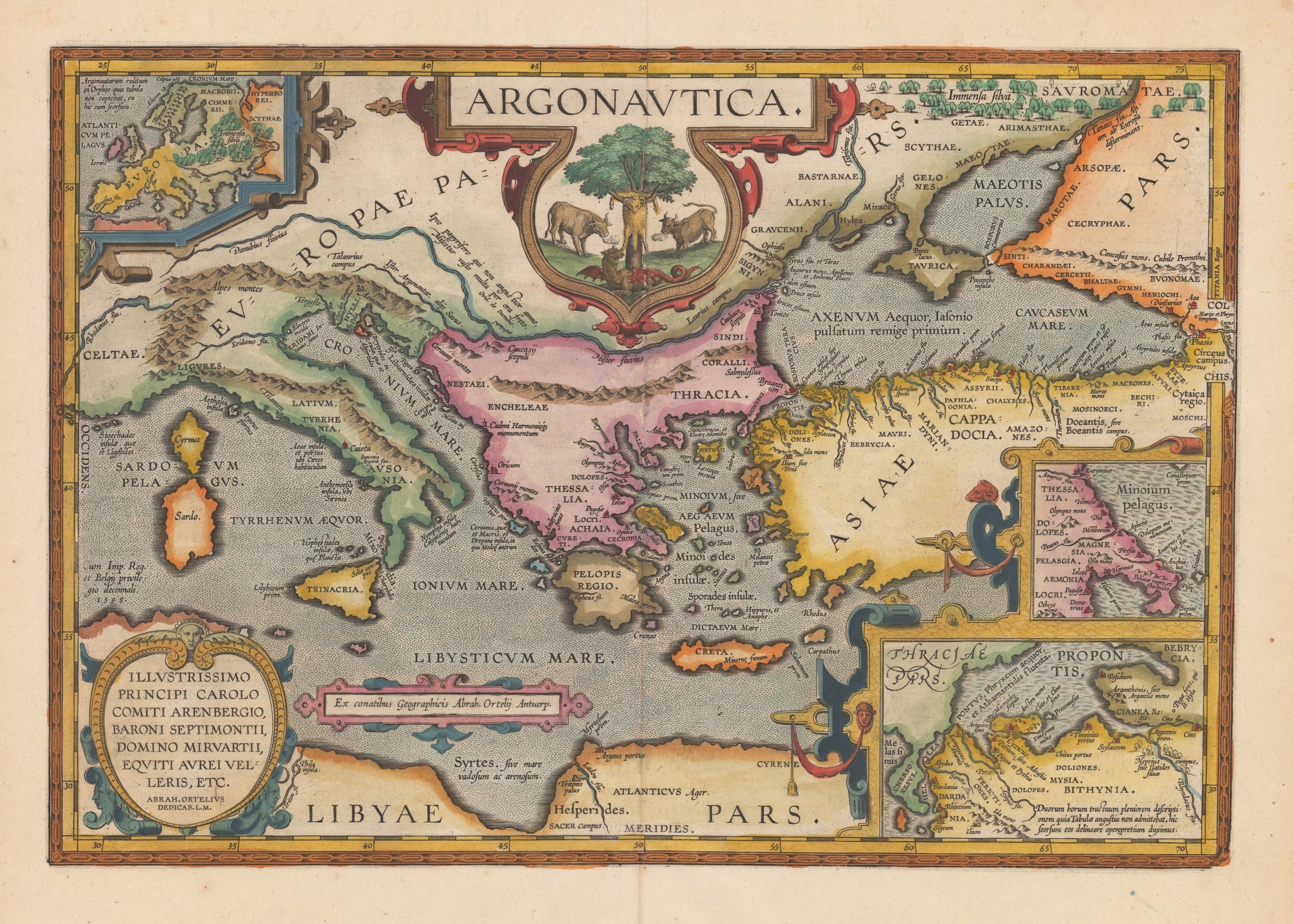 Argonavtica map by Abraham Ortelius Painting Ideas – Odyssey Travel Map