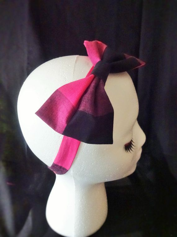 Plaid Pink Preppy Rockabilly Inspired Hair Bow and by Drambabychic https://www.etsy.com/people/dramababychic