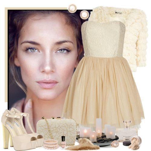 senza titolo cream dress