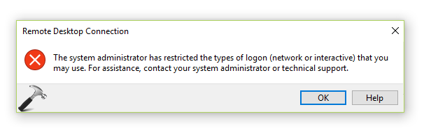 FIX] The System Administrator Has Restricted The Types Of