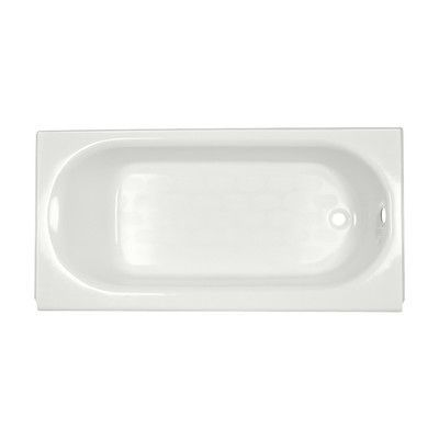 "American Standard Princeton 60"" x 30"" Soaking Bathtub Finish: White, Drain Location: Right-Hand"