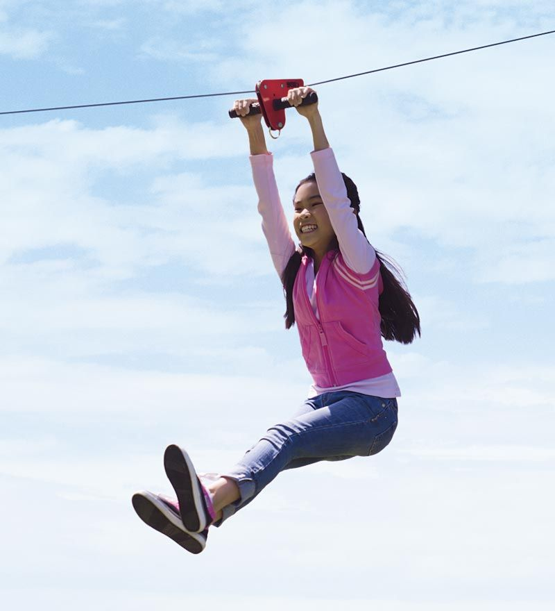 90-Foot Kids Zipline with Seat Kit   Ziplining, Kids ...